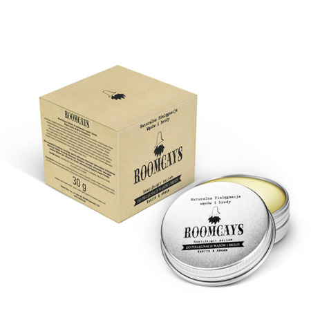 Roomcays Karite & Argan Nawilżający balsam do pielęgnacji wąsów i brody 30 g
